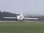 Russian Air Force Tu-22 Overshoots The Runway