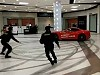 Russian Man Carves Up A Shopping Mall In His Ferrari