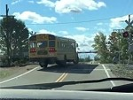 School Bus Driver Ignores The Level Crossing Gates