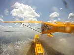 Seaplane Nails A Crocodile During Landing