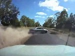 Shit For Brains Messes Up A Straight Road Overtake