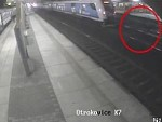 Shit For Brains Somehow Survives A Speeding Train