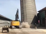 Silo Comes Down Surprisingly Easily