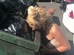 Skank Licks A Dumpster For A Few Dollars