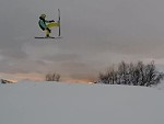 Skier Beautifully Filmed Stacking It