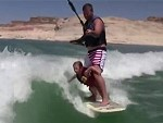 Skurfing Dad Has Some Killer Reflexes