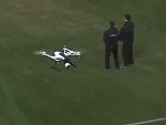 Soccer Fan Takes Out A Drone With A Toilet Roll
