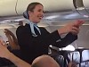 Soccer Fans Make Air Hostesses Job Impossible