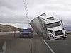 Strong Winds Push A Truck Over Onto A Cop Car