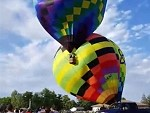 Sudden Change Of Wind Causes Hot Air Balloon Chaos