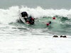 Surfers Get Absolutely Smashed In Huge Surf