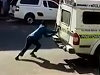 Suspects Wiggle Out Of A Police Van While The Cops Stop For Lunch