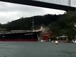Tanker Ship Crashes In To The Shore