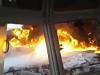 Tanker Ship Spectacularly Goes Up In Flames