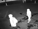 Thief Knocks Out His Mate Trying To Break In