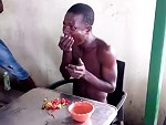 Thief Made To Eat A Lot Of Chilli's As Punishment