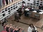 Three Women Simply Walk In And Help Themselves To The Stores Stock