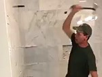 Tiler Destroys His Own Work After Builders Refused To Pay
