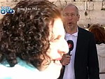 Toothless Woman Interrupts A Journalist