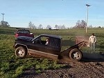 Truck Folds In Half Making A Jump