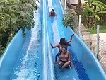 Two Girls Get Destroyed On The Waterslide