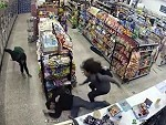 Two Guys Robbing A Store Interrupted By Guy Robbing The Store