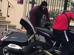 Two Men Try To Scooterjack A Guy In Broad Daylight