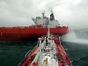 Two Tanker Ships Nearly Collide On The High Seas