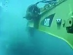Underwater Excavator At Work