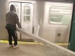 Uses The NYC Subway To Carry A Long Beam Idk Why