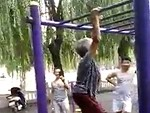 Very Old Woman Can Still Smash The Monkey Bars