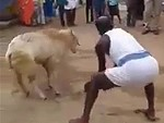 Villager Tries To Slaughter A Goat But It Has Other Ideas