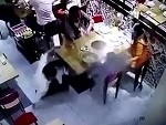 Waiter Slips And Scolds Little Boy