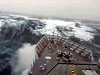 Warship Takes A Huge Wave Over The Bow And Doesn't Flinch