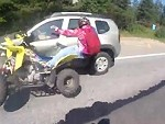 Why Don't Ride Quads On The Road Like A Fuckwit