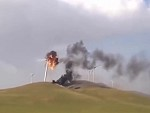 Wind Turbine Self Destructs