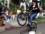 Woman Breaks Her Butt On A Bike Jump