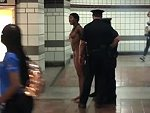 Woman Has A Naked Brain Snap In An Los Angeles Subway Station
