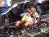 Woman Sits In The Car Unfazed Putting On Her Makeup After Bad Accident
