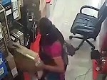 Woman Steals A Laptop With Her Cunt
