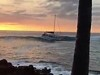 Yacht Accidentally Catches A Wave And Ends Up On The Rocks