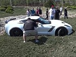 Z06 Corvette Wipes Out Ripping A Burnout